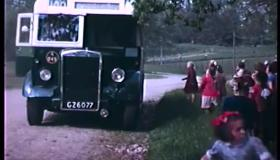 Archive footage of Strabane school outing