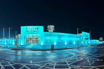 Public buildings in Derry and Strabane lit blue in support of Justice For Noah campaign
