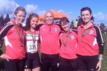 Glorious autumnal weather prevails for local athletes in cross-country racing