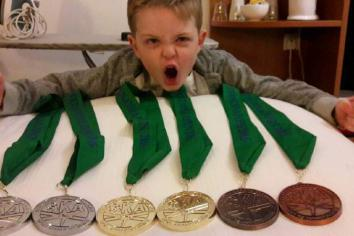 Eight-year-old Lucas enjoys success on world stage of karate