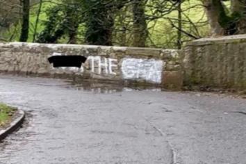 Anti-GAA graffiti daubed on bridge between Donemana and Claudy