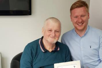 Strabane man delighted to receive letter from Spurs manager