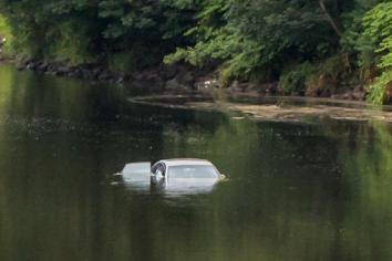 Newtown man praised after rescuing children from submerged car