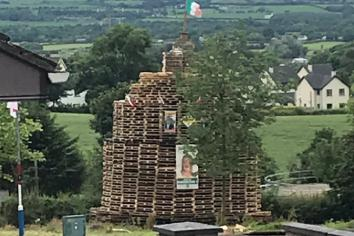 Anger at placing of election posters on Artigarvan bonfire