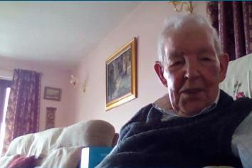 Ninety-year-old Sam gets to grips with modern technology during lockdown