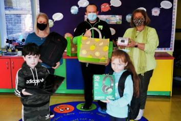 Asda donates laptops to St Mary's Primary School