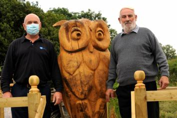 New 'Oliver the Owl' sculpture proving a popular attraction at Cullion