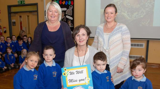 Sion Mills PS staff and pupils bid a fond farewell to